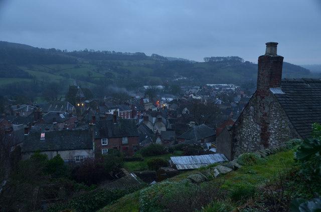 View over Wirksworth, Derbyshire, Great Britain