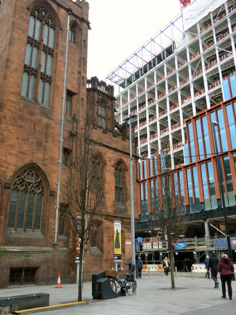 Old and new on Deansgate