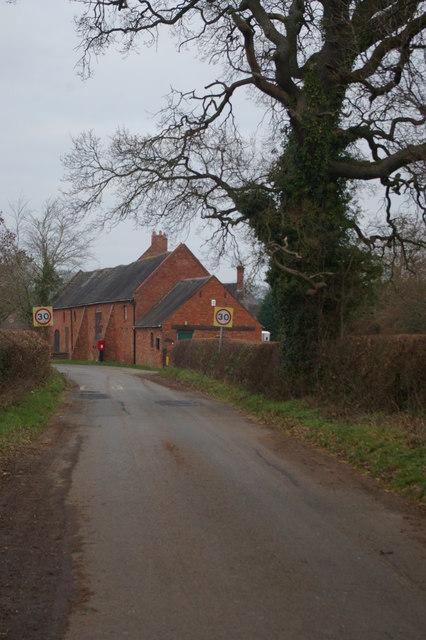 School Farm, Stretton, from the south