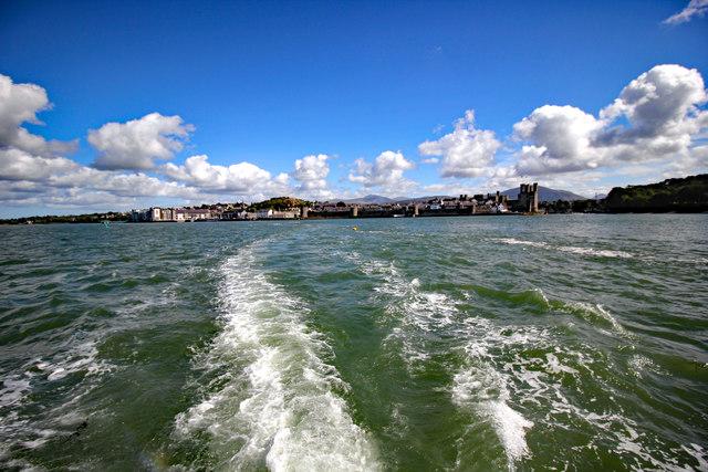 Leaving Caernarfon On the 'Queen of the Sea'