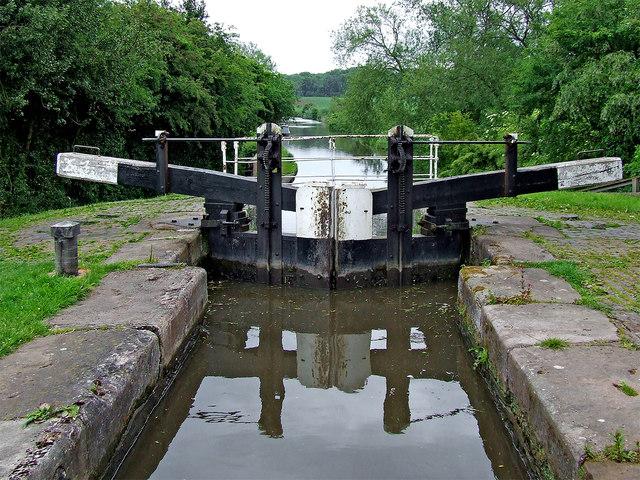 Deptmore Lock south-east of Stafford