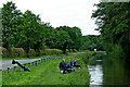 SJ9316 : Canal and road north of Penkridge in Staffordshire by Roger  Kidd