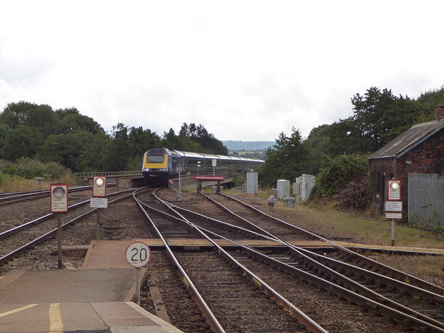 Up train approaching Exeter