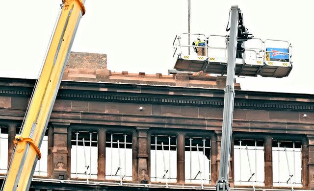 Primark (Bank Buildings) fire, Belfast - January 2019(1)
