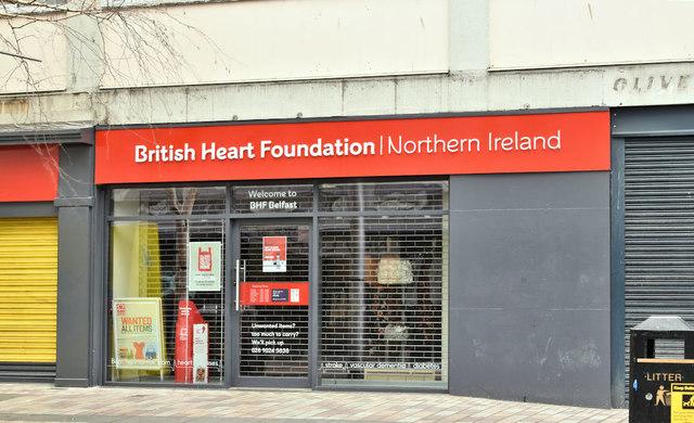 British Heart Foundation shop, Belfast (January 2019)