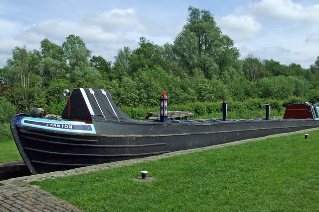 Working boat in Otherton Lock near Penkridge, Staffordshire