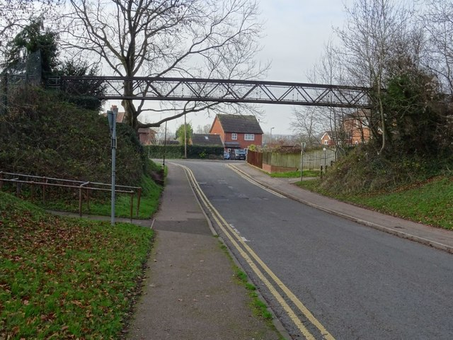 Footbridge crossing Orchard Lane