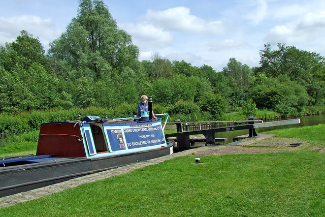 Working boat in Otherton Lock near Penkridge