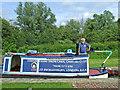 "SJ9312 : Working boat ""Stanton"" in Otherton Lock, Staffordshire by Roger  Kidd"