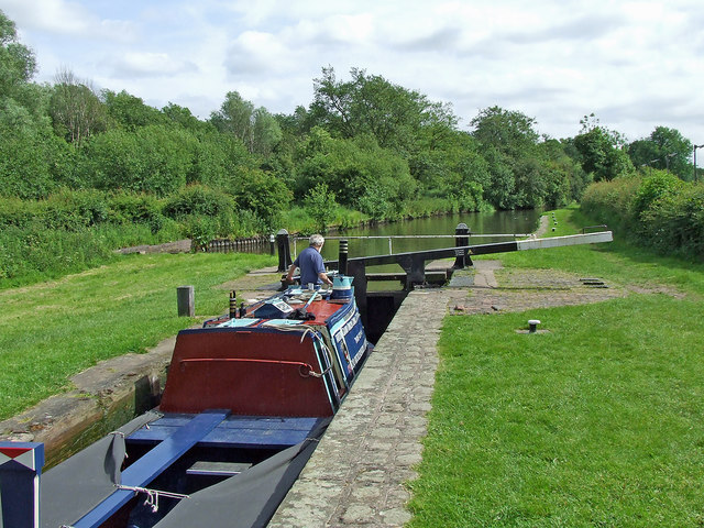 Otherton Lock south of Penkridge in Staffordshire