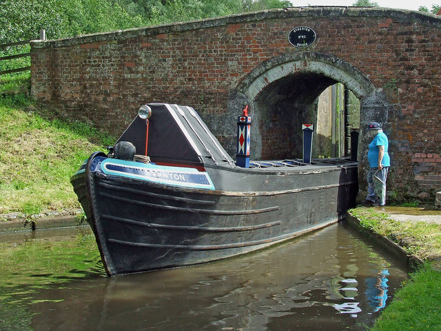 Working boat at Otherton Lock, Staffordshire