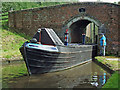 SJ9312 : Working boat at Otherton Lock, Staffordshire by Roger  Kidd
