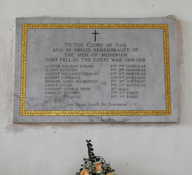 Mundham War Memorial
