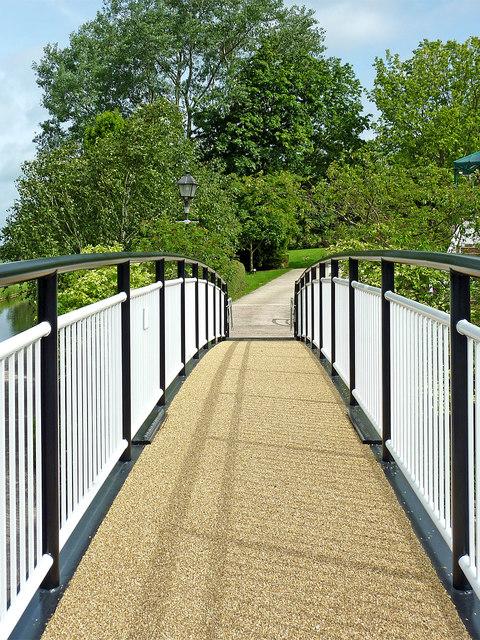 Footbridge near Wildwood in Staffordshire
