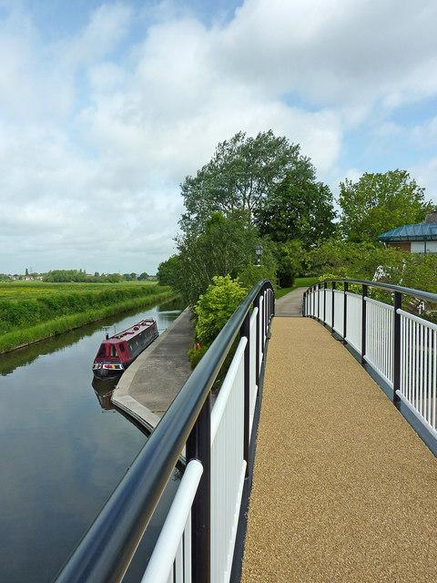 Footbridge by the canal near Wildwood, Stafford