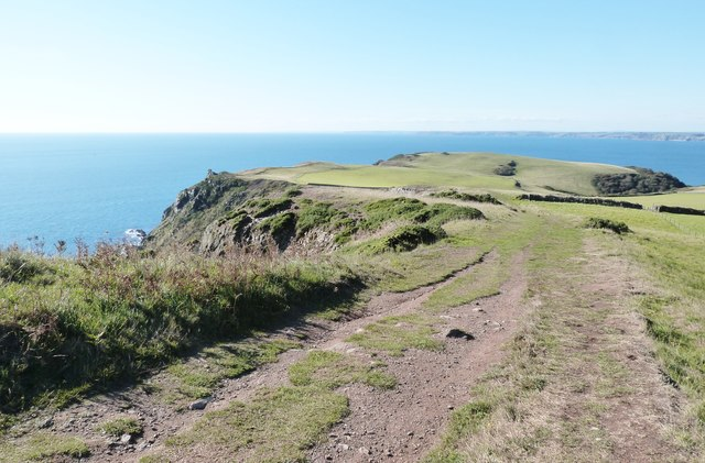 Location of the Iron Age Hill Fort at Bolt Tail, Devon