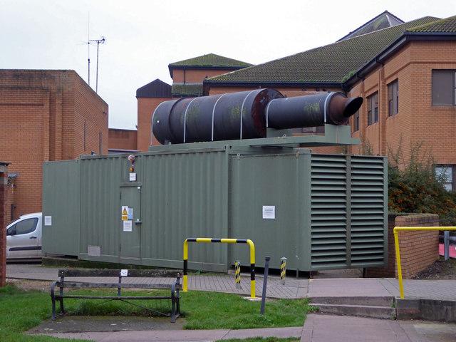 Musgrove Park Hospital - mobile emergency generator