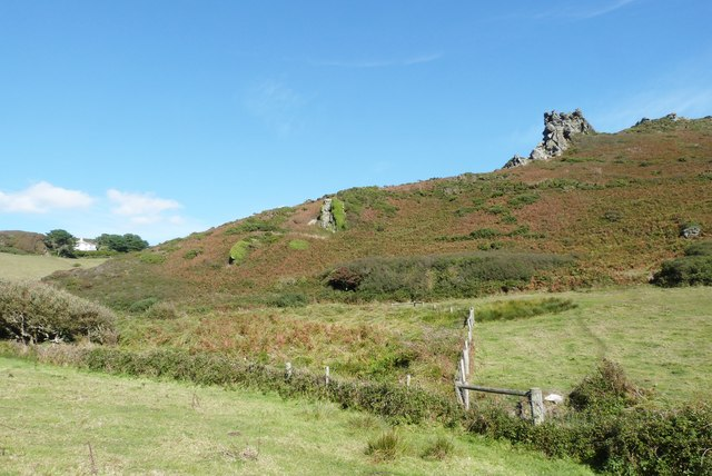 Hazel Tor from the valley path, South Devon