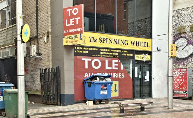 """Former """"Spinning Wheel"""", Belfast (January 2019)"""