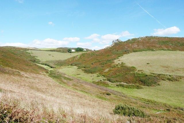 View from the SW Coast Path on Cathole Point towards Hazel Tor