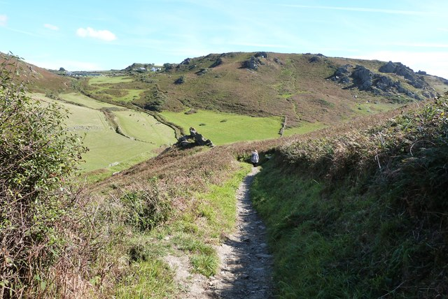 SW Coast Path on its descent to Soar Mill Cove