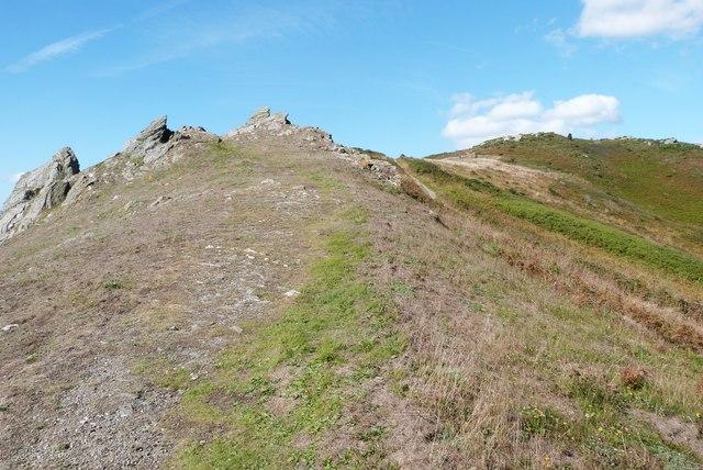 High ground at Cathole Point, South Devon