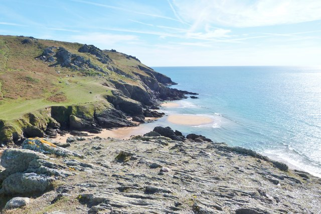 Soar Mill Cove  from Cathole Point, South Devon