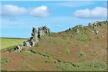 SX6937 : Long lens shot of Hazel Tor from the SW Coast Path on Cathole Point, South Devon by Derek Voller