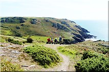 SX6937 : Bench seat viewpoint on the SW Coast Path overlooking Soar Mill Cove, South Devon by Derek Voller