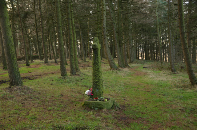 Wayside Cross in Shillito Wood, Derbyshire