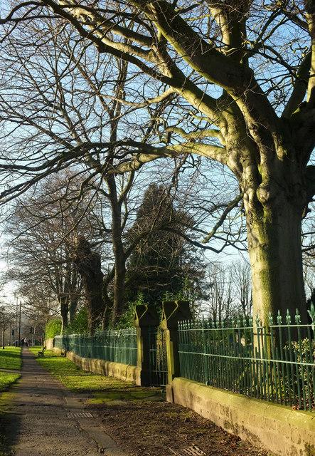 Churchyard railings, Otley Road