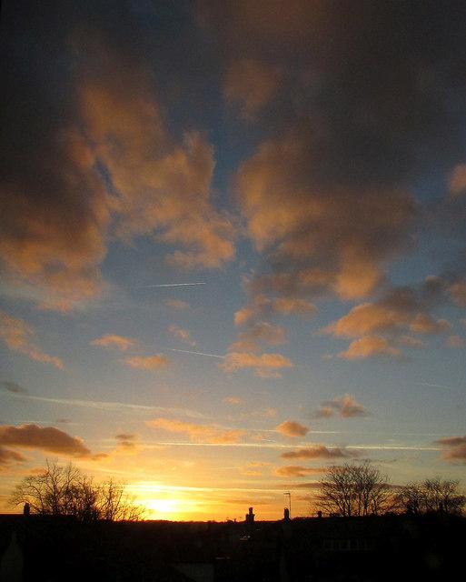 da033eabdb12 Sunset, Harrogate © Derek Harper cc-by-sa/2.0 :: Geograph Britain ...