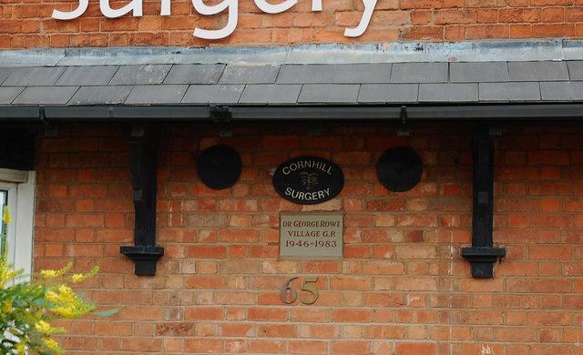 Cornhill Surgery (3) - detail, 65 New Road, Rubery, near Birmingham