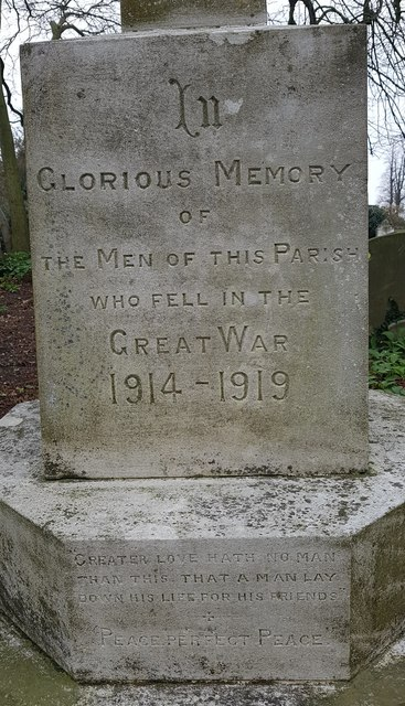 Inscription on the Norton Subcourse war memorial  - 1