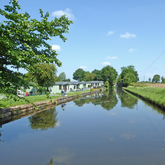 Canal at Shutt Green in Staffordshire