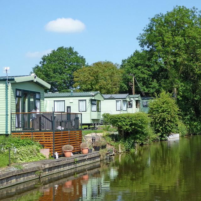 Mobile homes near Shutt Hill, Staffordshire