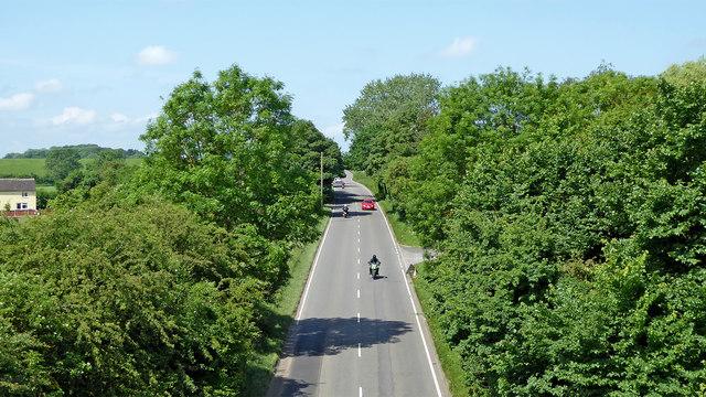 Watling Street from Stretton Aqueduct, Staffordshire