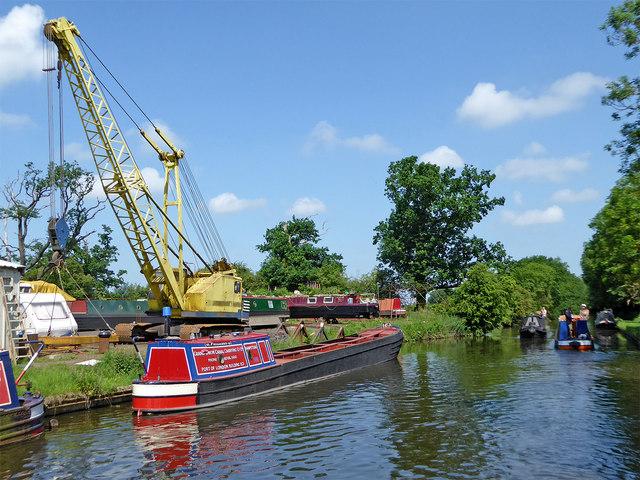 Working boat and boatyard near Stretton, Staffordshire