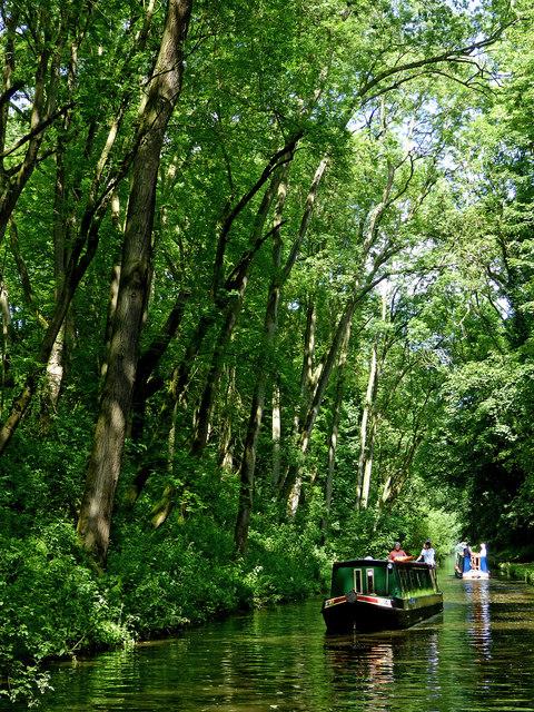 Shropshire Union Canal south-east of Wheaton Aston