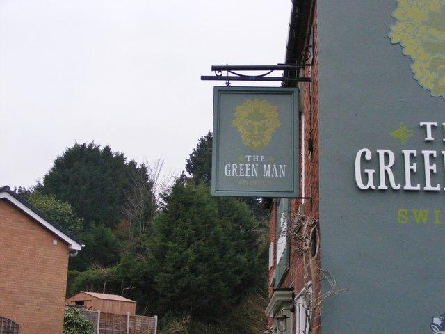 Green Man Pub Sign