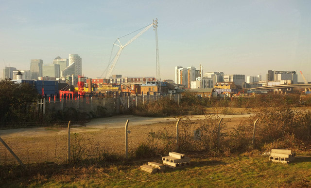 Vacant ground near Canning Town