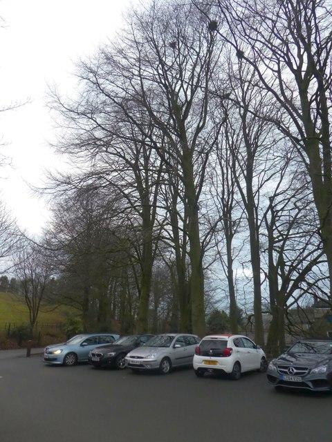 Car park outside Chatsworth Estate Farm Shop