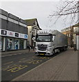 ST1586 : Heemskerk Flowers lorry in Cardiff Road, Caerphilly, a long way from home by Jaggery