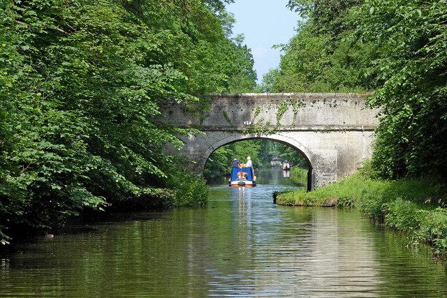 Lapley Wood Bridge near Wheaton Aston in Staffordshire