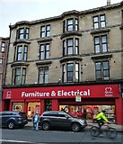 NS5566 : British Heart Foundation shop, Dumbarton Road by Thomas Nugent