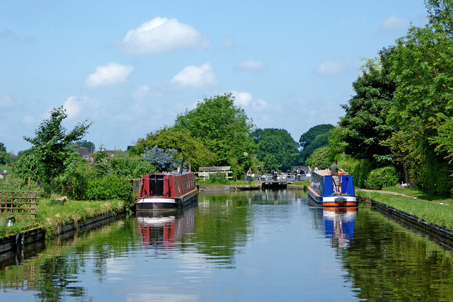 Shropshire Union Canal east of Wheaton Aston in Staffordshire