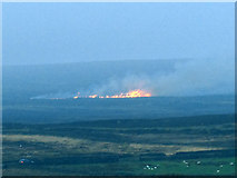 SE1443 : Fire on Hawksworth Moor by Stephen Craven