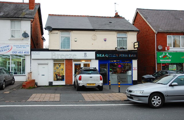 Breeze Hairdressing and Sea Queen Fish Bar, 105 & 107 New Road, Rubery, near Birmingham