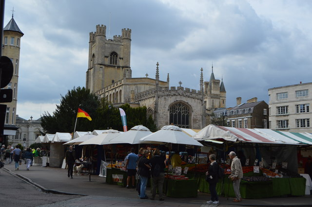 Market Square and Church of St Mary the Great