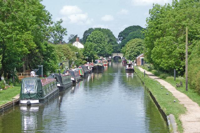 Shropshire Union Canal below Wheaton Aston Lock, Staffordshire